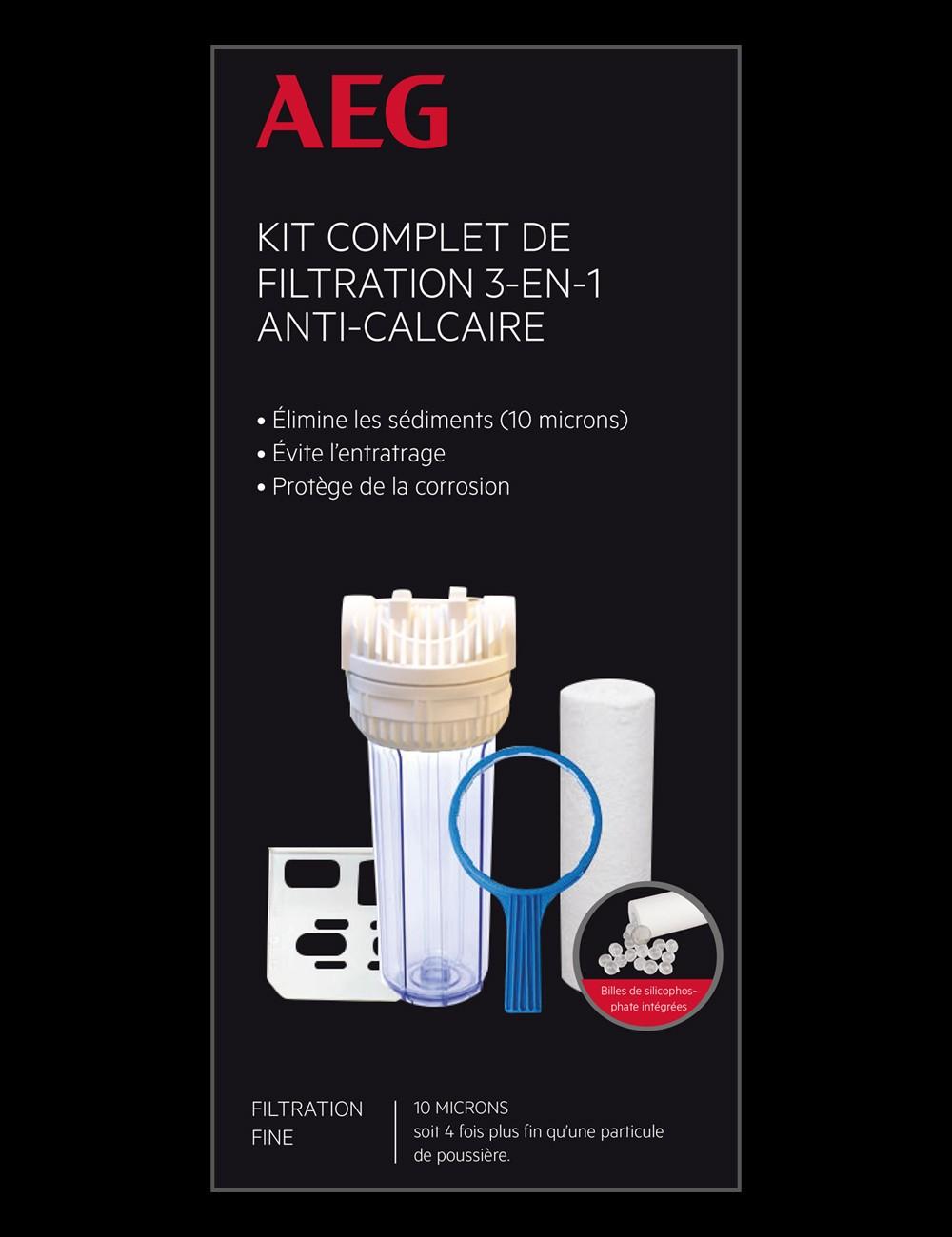 Kit de filtration complet anti-calcaire